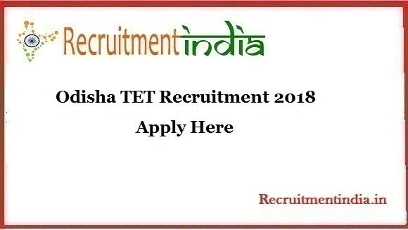 Odisha TET Recruitment