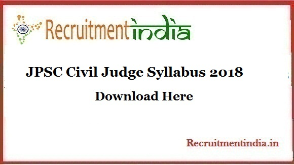 JPSC Civil Judge Syllabus