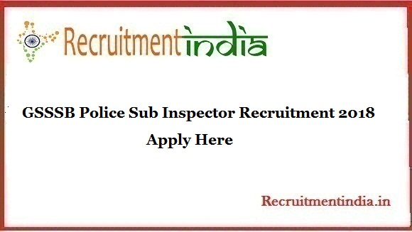 GSSSB Police Sub Inspector Recruitment