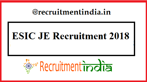 ESIC JE Recruitment