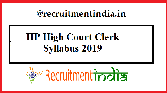 HP High Court Clerk Syllabus