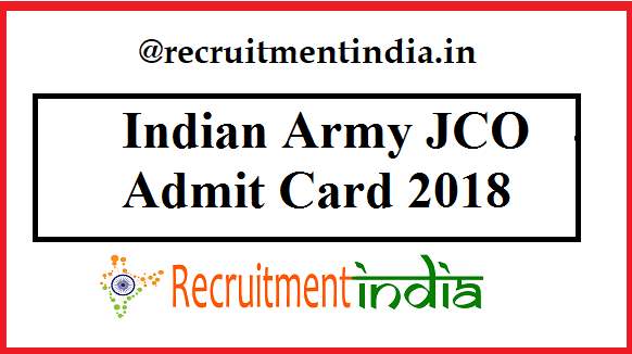 Indian Army JCO Admit Card
