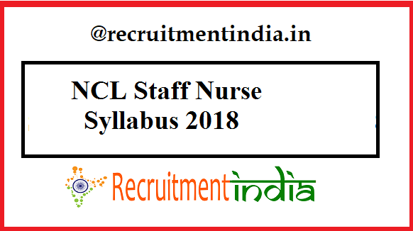 NCL Staff Nurse Syllabus