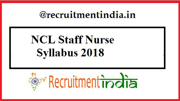 NCL Staff Nurse Syllabus