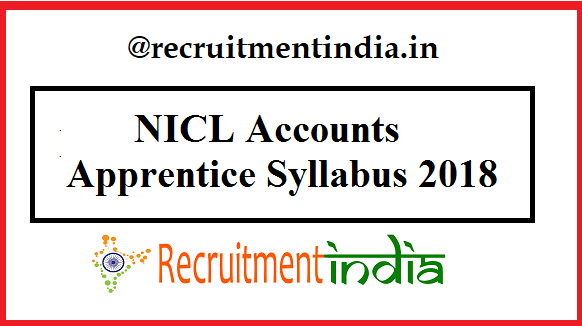 NICL Accounts Apprentice Syllabus