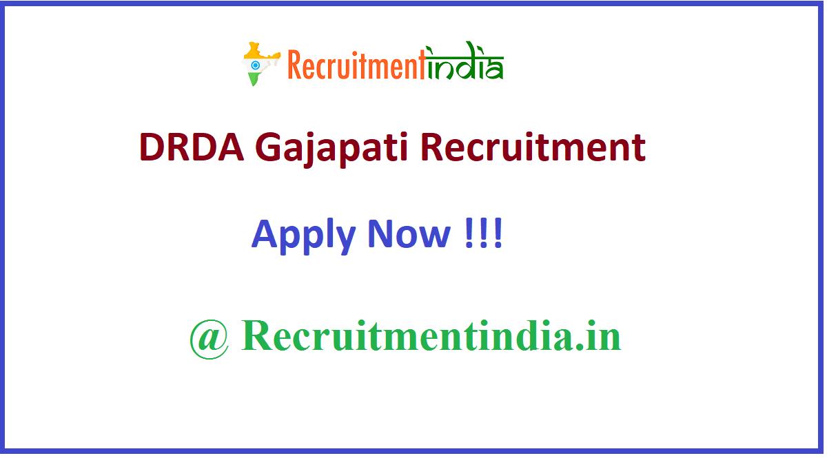 DRDA Gajapati Recruitment