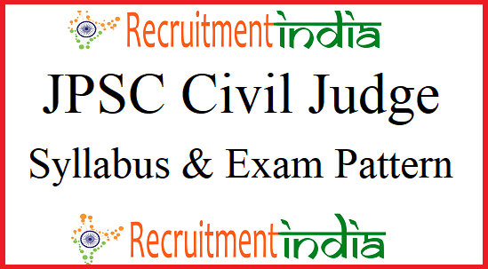 JPSC Civil Judge Syllabus