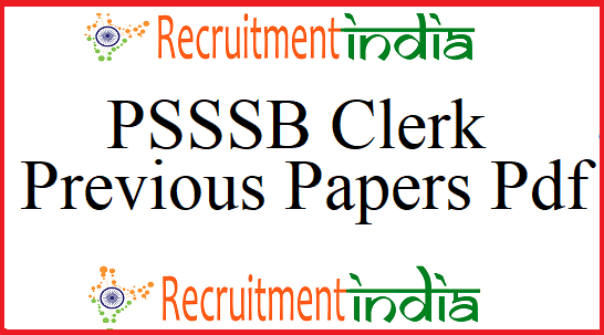 PSSSB Clerk Previous Papers