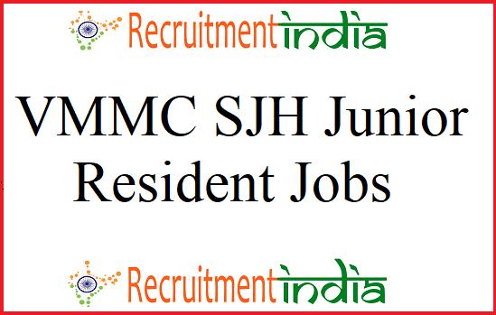 VMMC SJH Junior Resident Recruitment