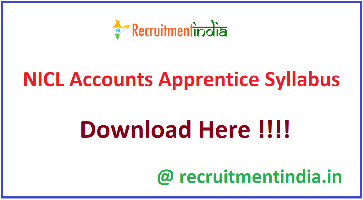 NICL Accounts Apprentice Syllabus