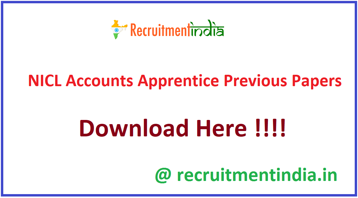 NICL Accounts Apprentice Previous Papers