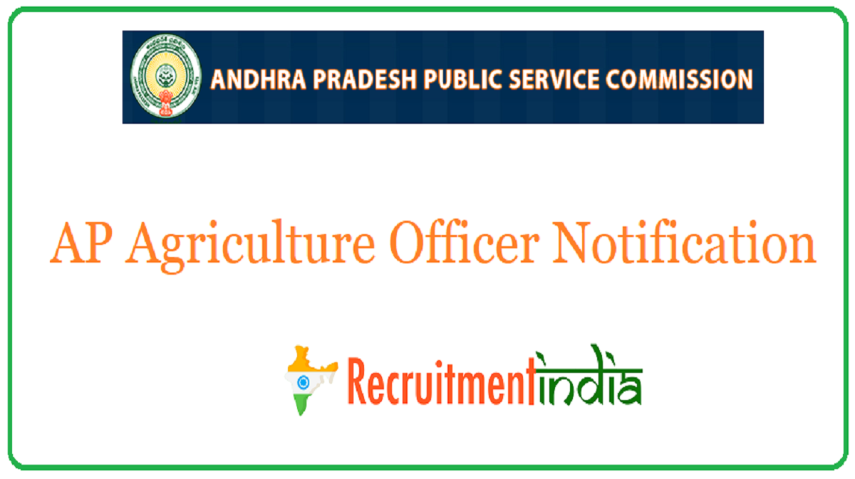 AP Agriculture Officer Notification