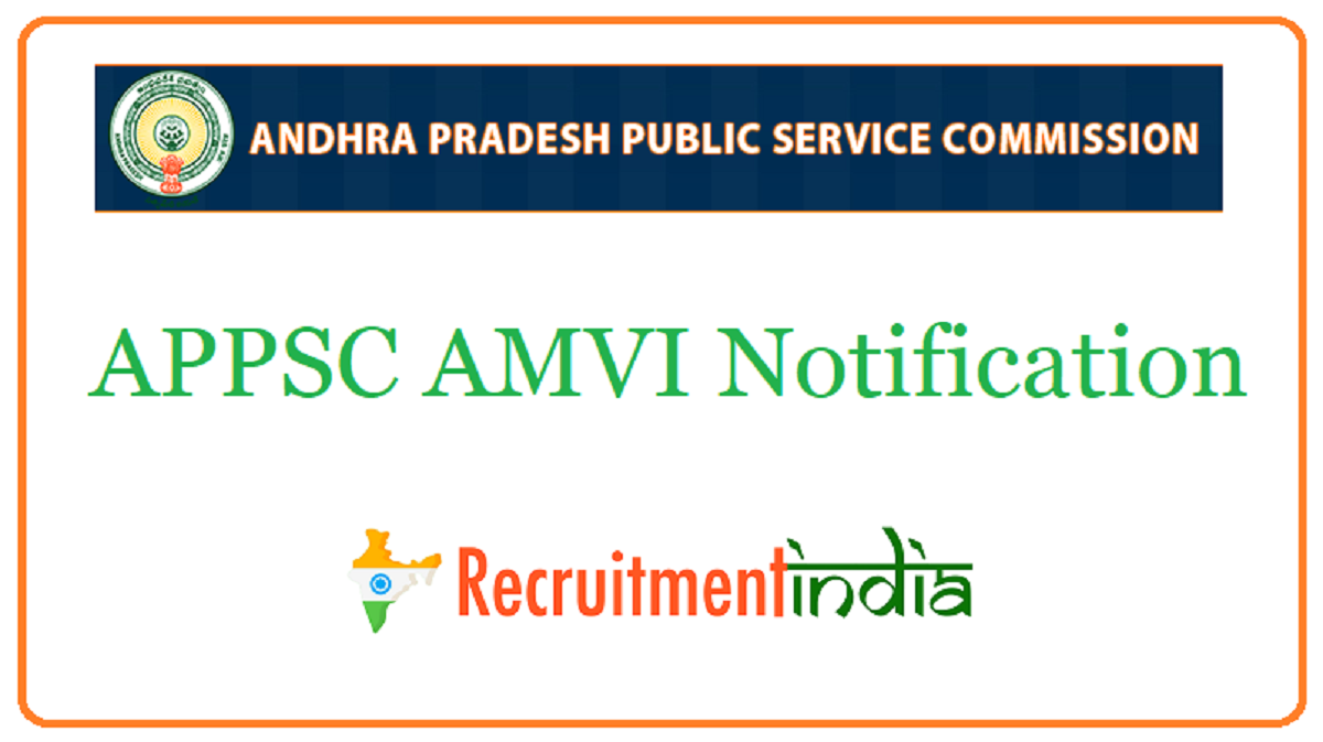 APPSC AMVI Notification