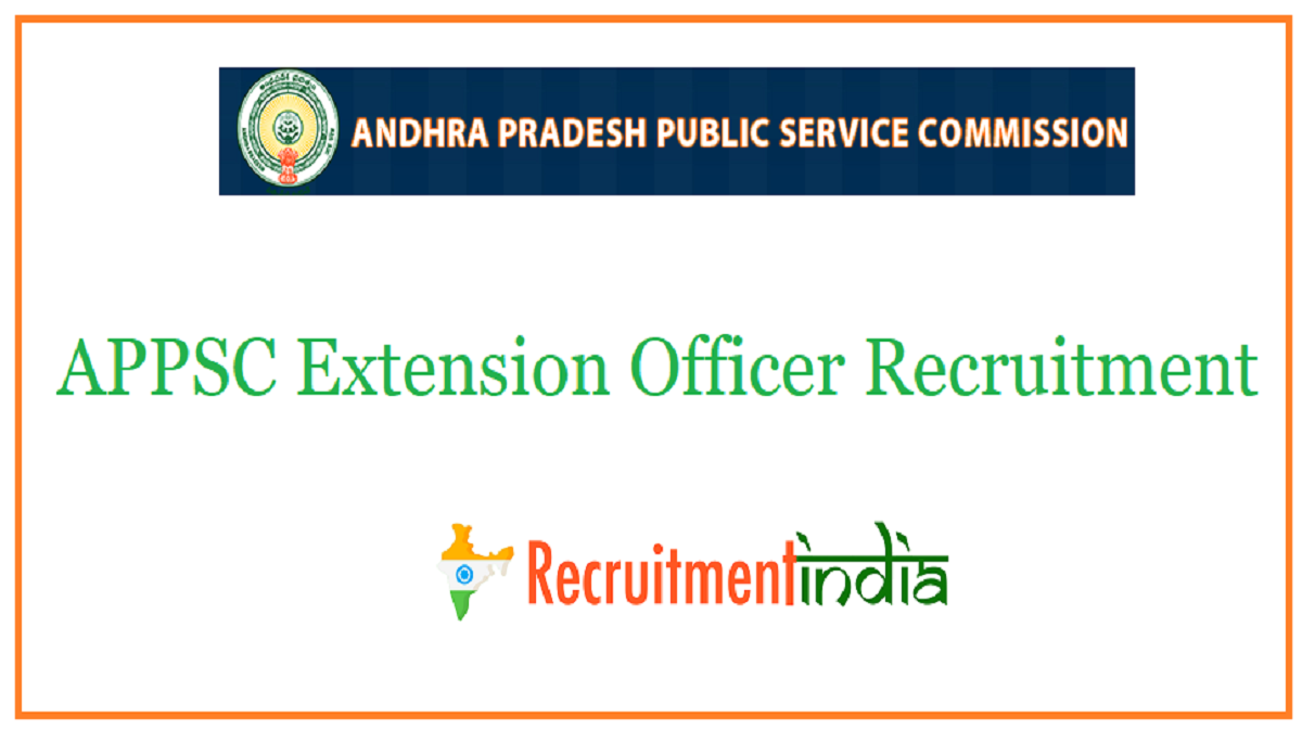 APPSC Extension Officer Recruitment