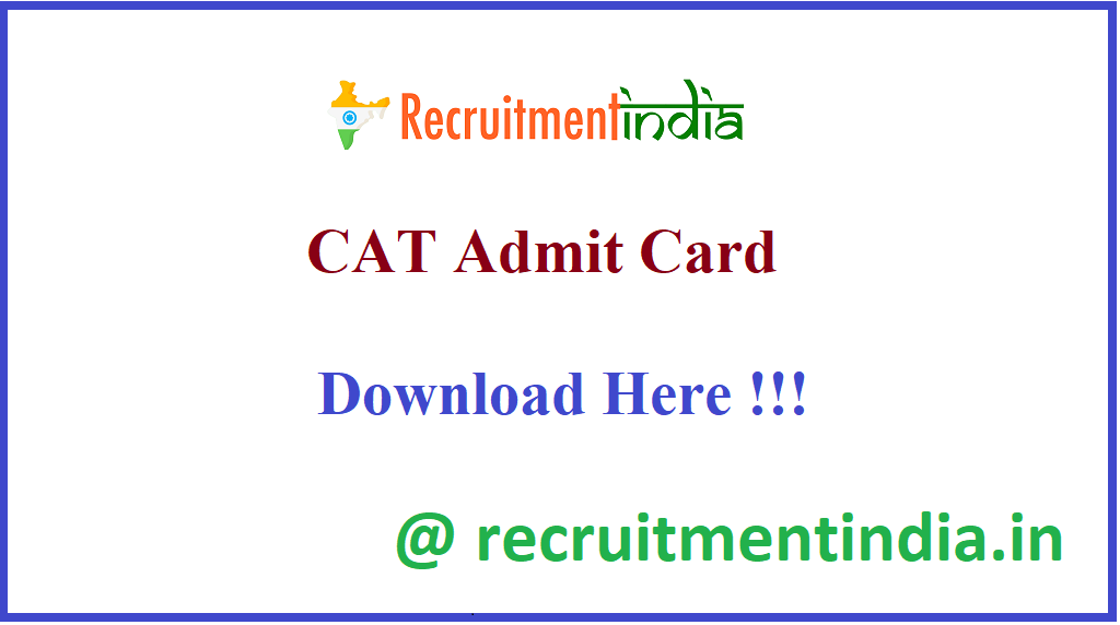 CAT Admit Card