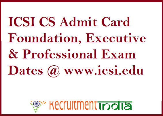ICSI CS Admit Card