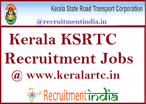 Kerala KSRTC Recruitment