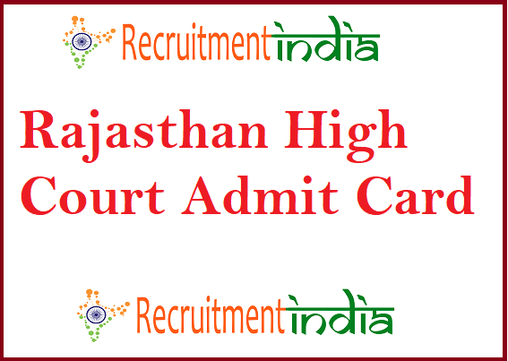 Rajasthan High Court LDC Admit Card