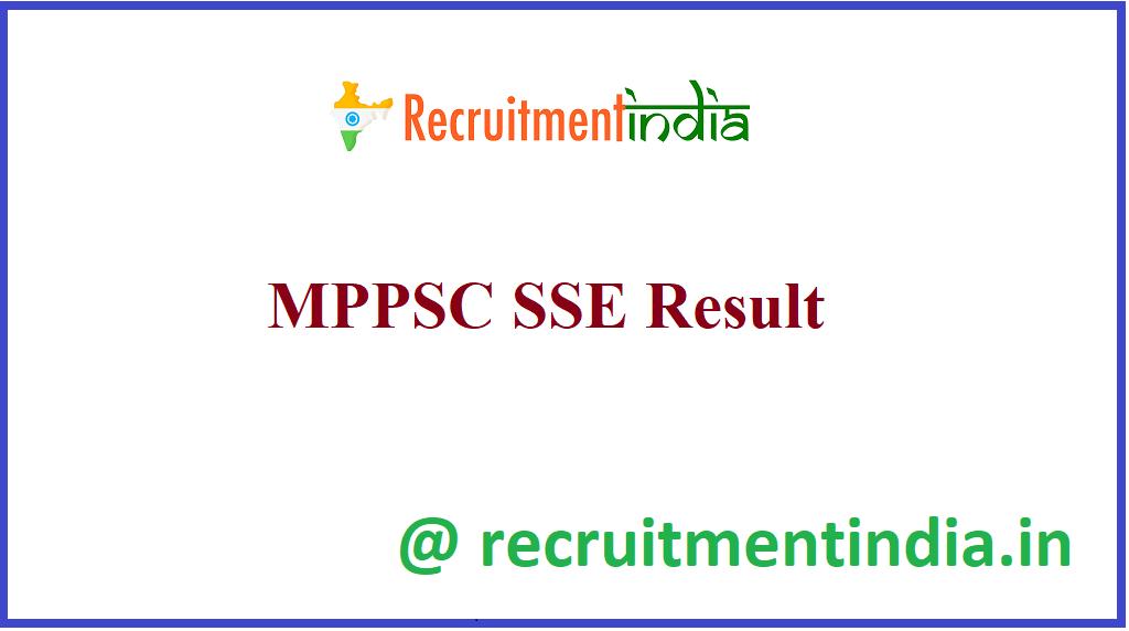 MPPSC SSE Result