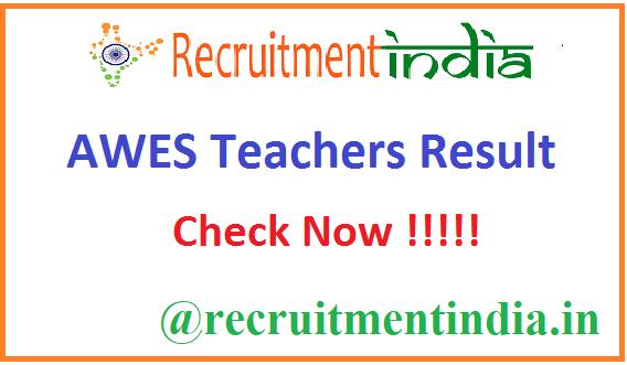 AWES Teachers Result