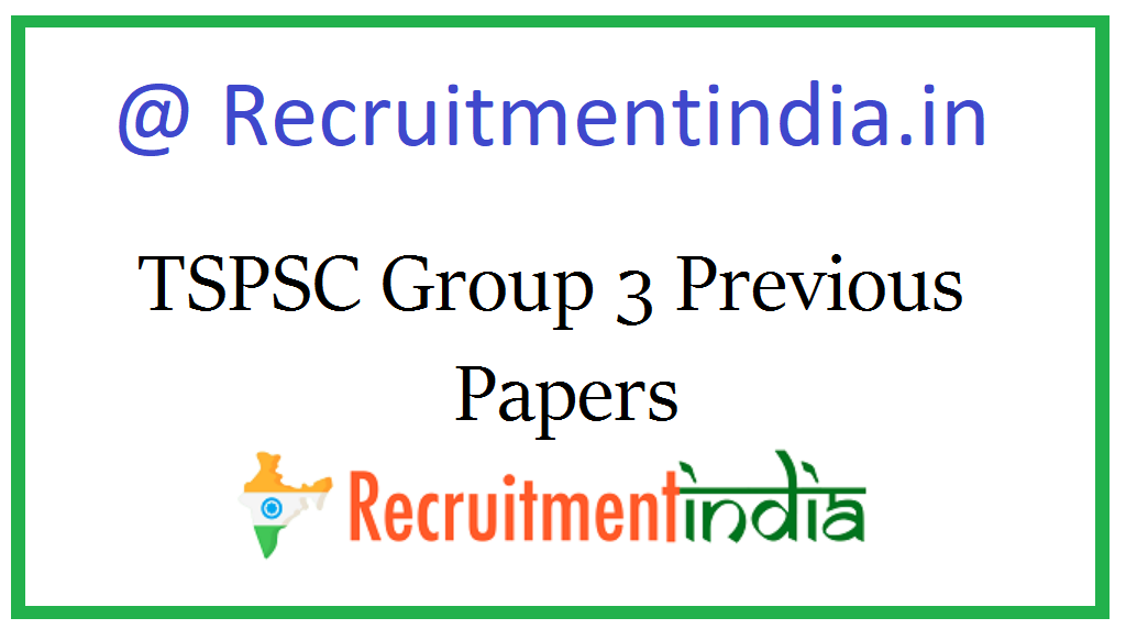 TSPSC Group 3 Previous Papers