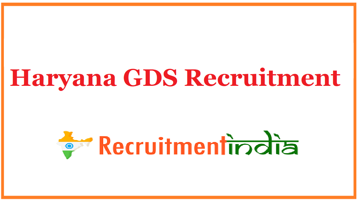 Haryana GDS Recruitment
