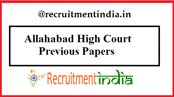 Allahabad High Court ARO Previous Papers