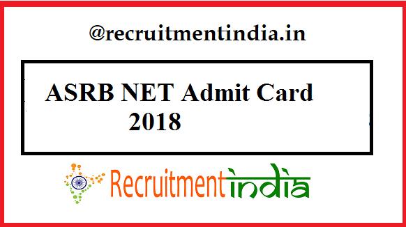 ASRB NET Admit Card