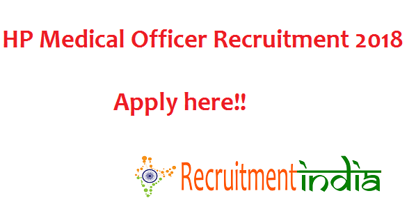 HPPSC Medical Officer Recruitment 2018