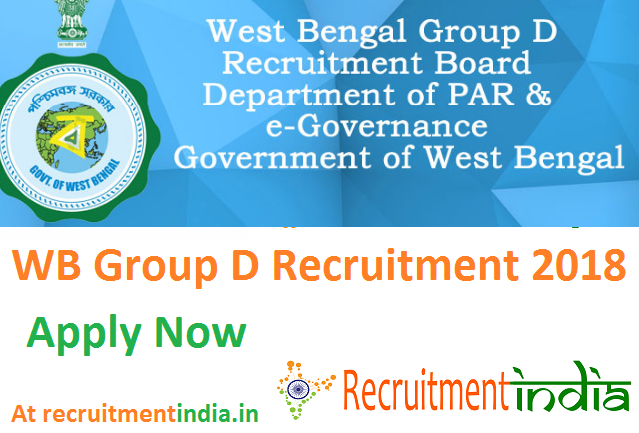 WB Group D Recruitment 2018