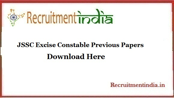 JSSC Excise Constable Previous Papers