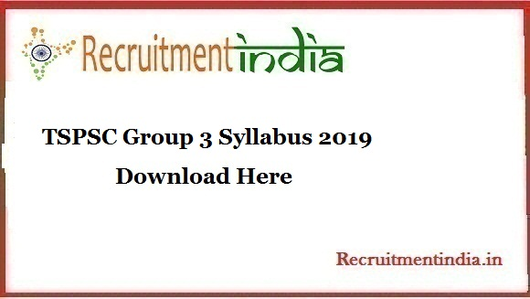 TSPSC Group 3 Syllabus
