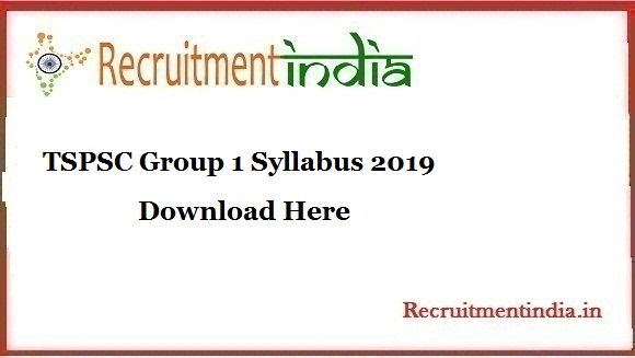 TSPSC Group 1 Syllabus