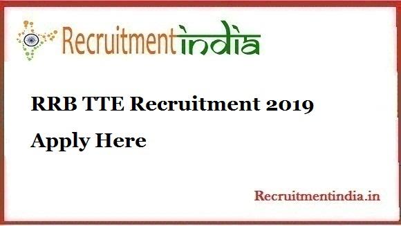 RRB TTE Recruitment