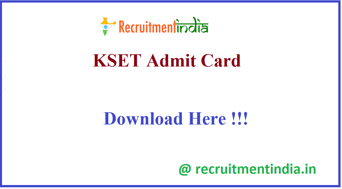 KSET Admit Card