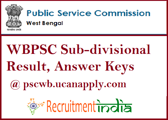 WBPSC Sub-divisional Result
