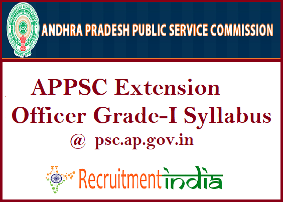 APPSC Extension Officer Grade-I Syllabus