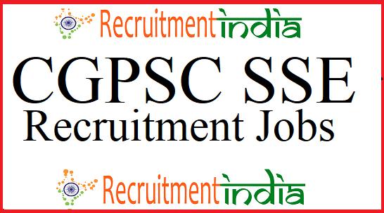 CGPSC SSE Recruitment