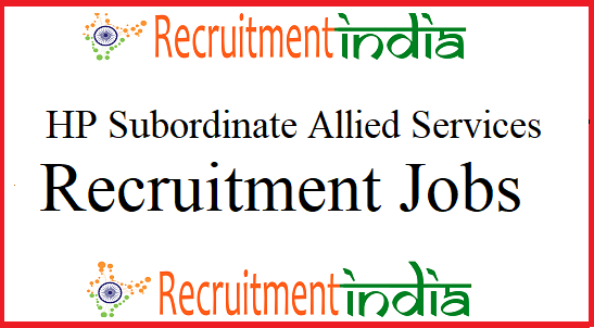 HP Subordinate Allied Services Recruitment
