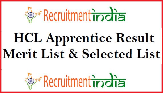 HCL Apprentice Result