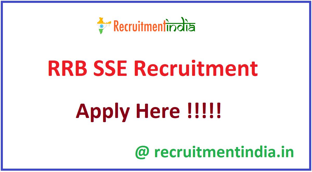 RRB SSE Recruitment