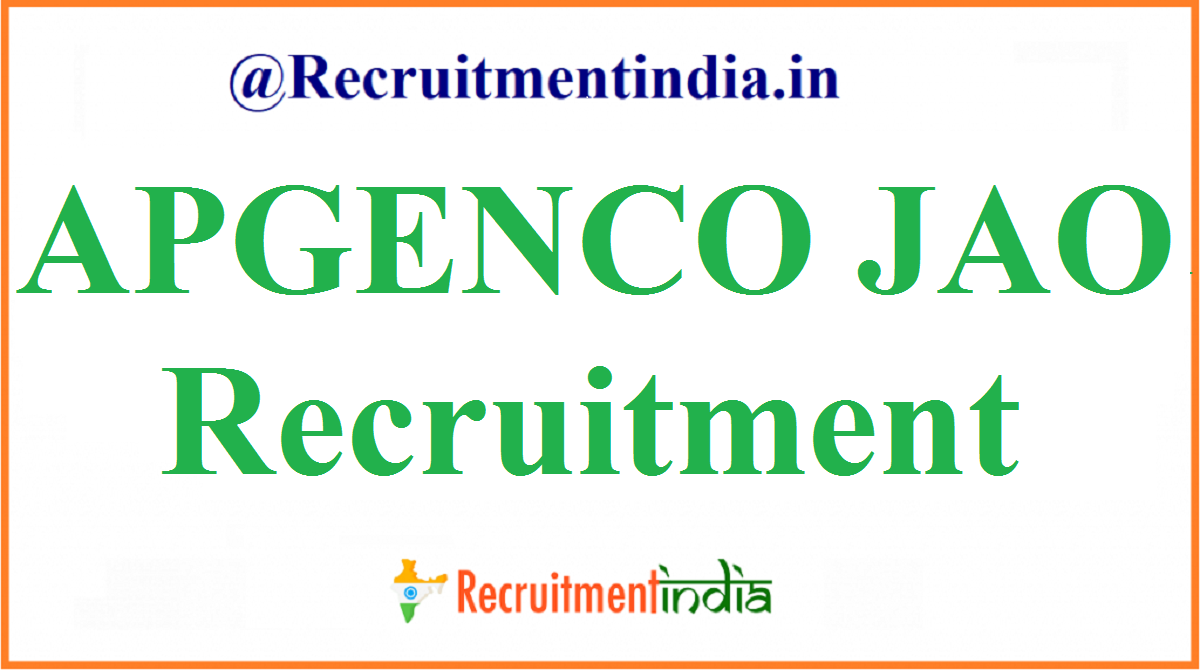 APGENCO JAO Recruitment