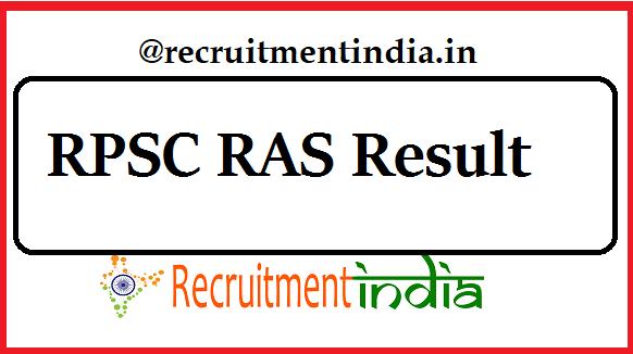 RPSC RAS Result