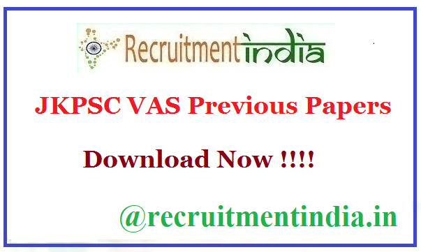 JKPSC VAS Previous Papers