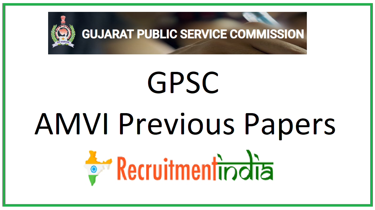 GPSC AMVI Previous Papers