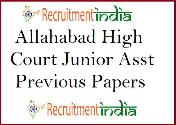 Allahabad High Court Junior Assistant Previous Papers
