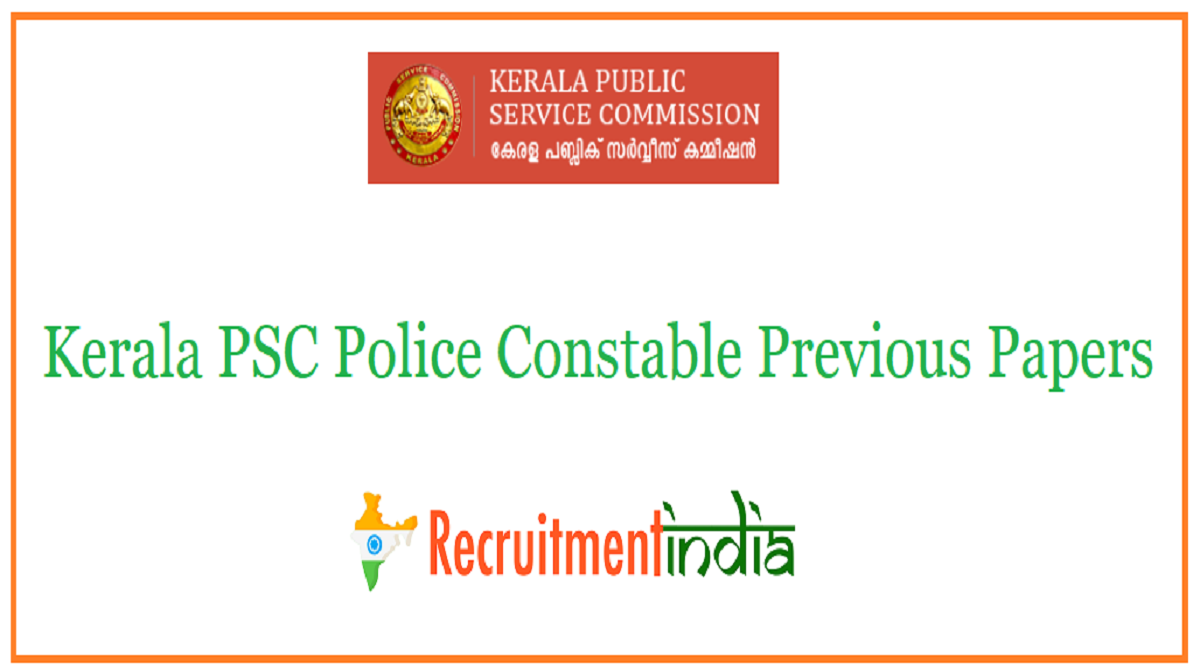 Kerala PSC Constable Previous Papers