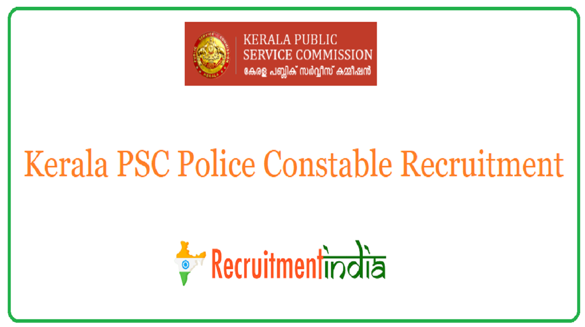 Kerala PSC Police Constable Recruitment