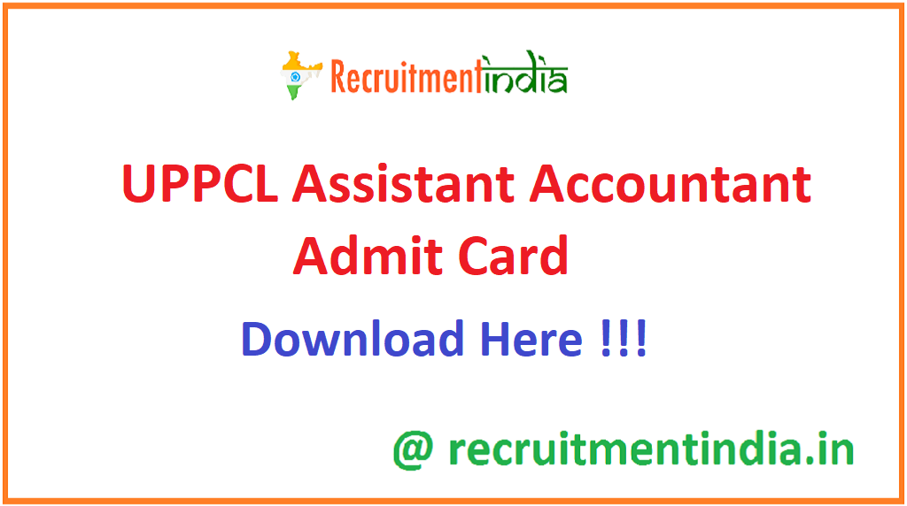 UPPCL Assistant Accountant Admit Car