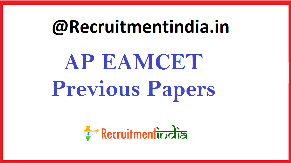 AP EAMCET Previous Papers